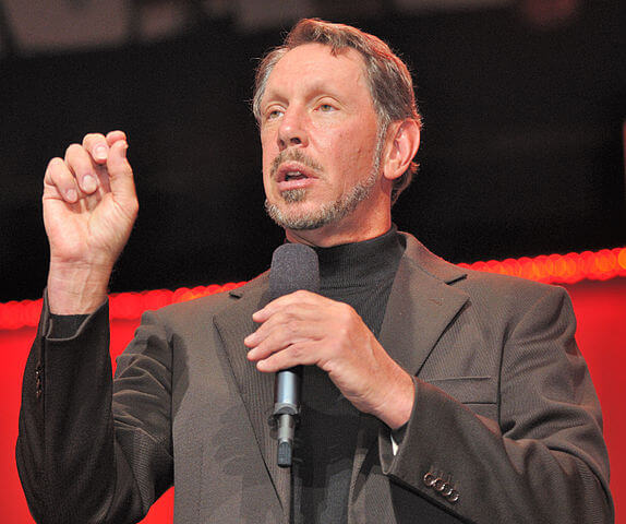 By Oracle Corporate Communications - originally posted to Flickr as Larry Ellison on stage, CC BY 2.0, Link